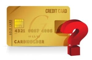 Credit Card and Question Mark