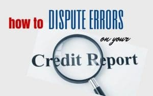 Dispute Credit Errors