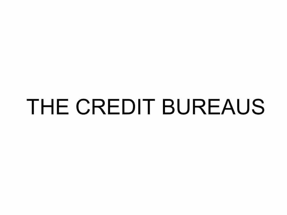THE CREDIT BUREAU