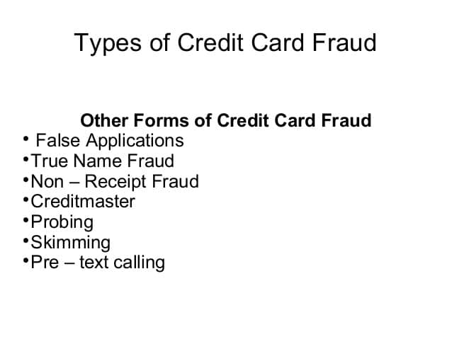Credit Card Fraud Vs. True Name Fraud