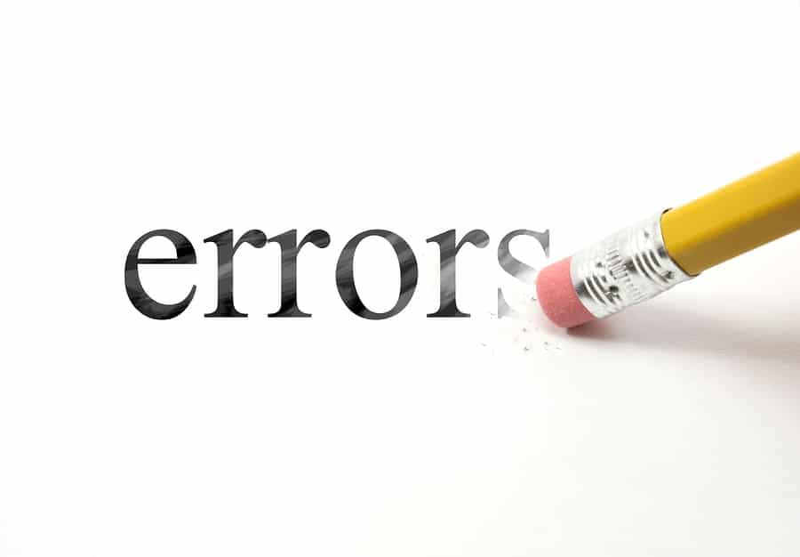Erase Your Errors