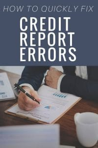How To Fix Errors on Credit Report